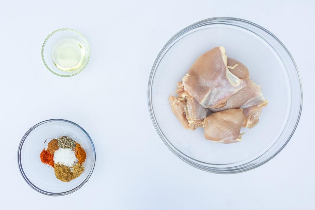 Ingredients ofr chicken shawarma
