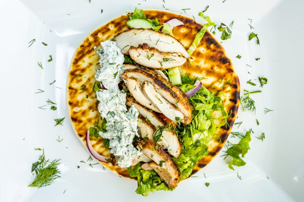Fresh, delicious chicken shawarma