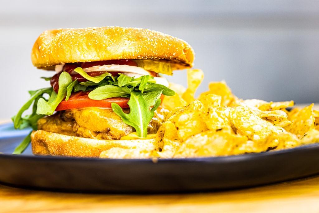 A delicious smash burger