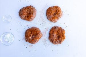 Seasoned patties for teriyaki burgers