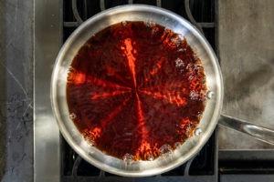 Cherry soda boiling