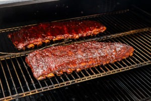 ribs with the sauce well-set