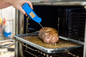 verifying the temperature with the Thermapen