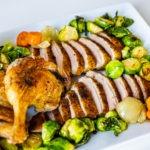 A platter of roast duck