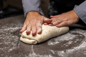 folding the dough