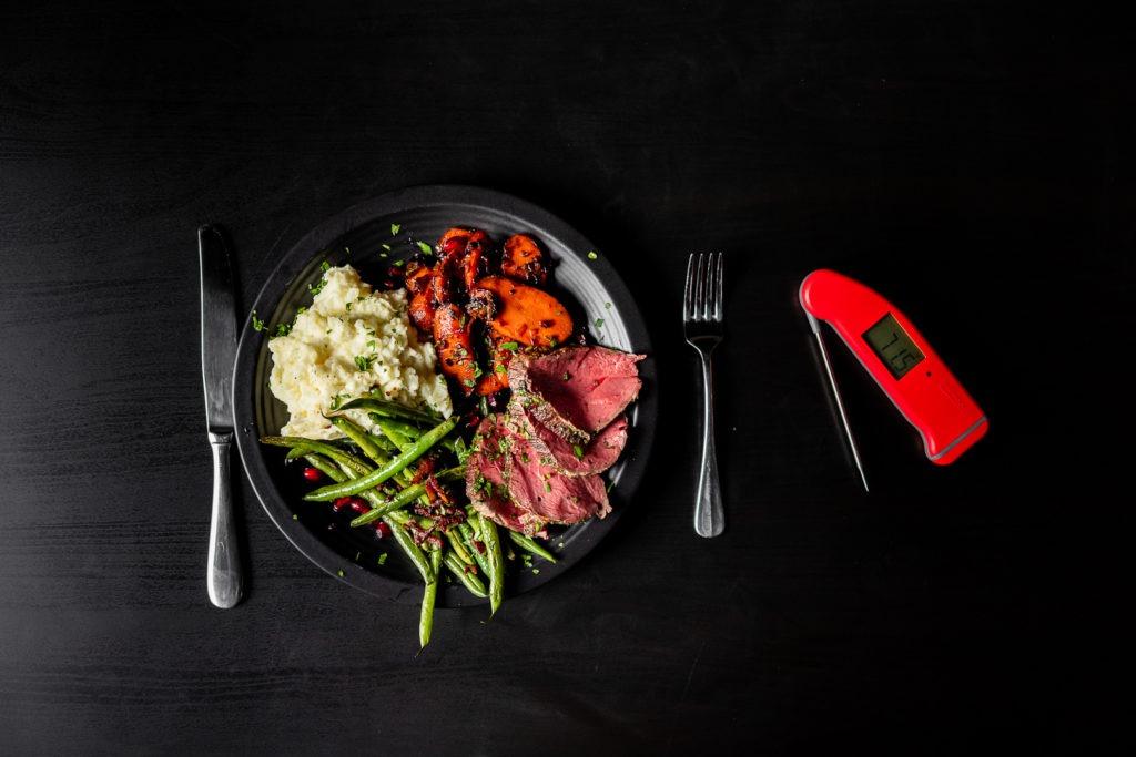 Beef tenderloin dinner