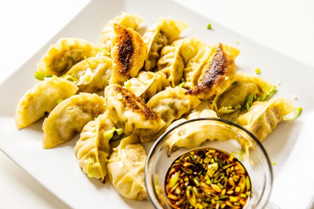 Fresh, homemade potsticker dumplings