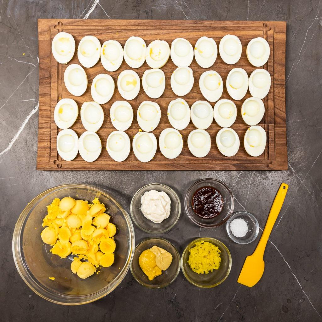 BBQ deviled egg ingredients