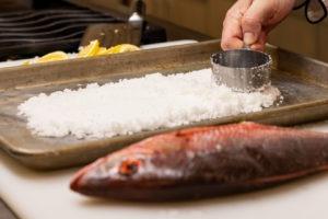 Preparing the salt bed