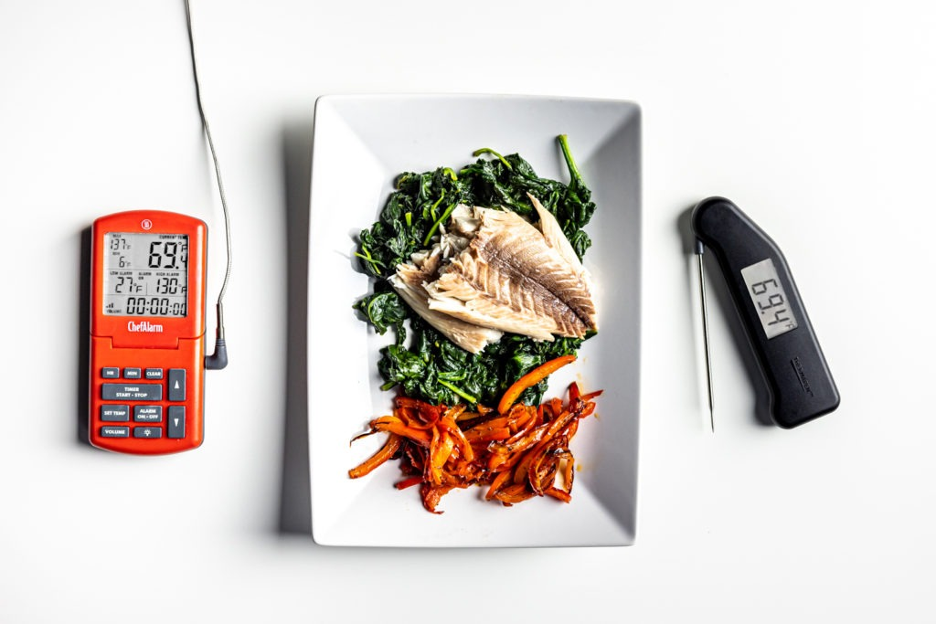 Salt-cooked snapper with ChefAlarm and Thermapen