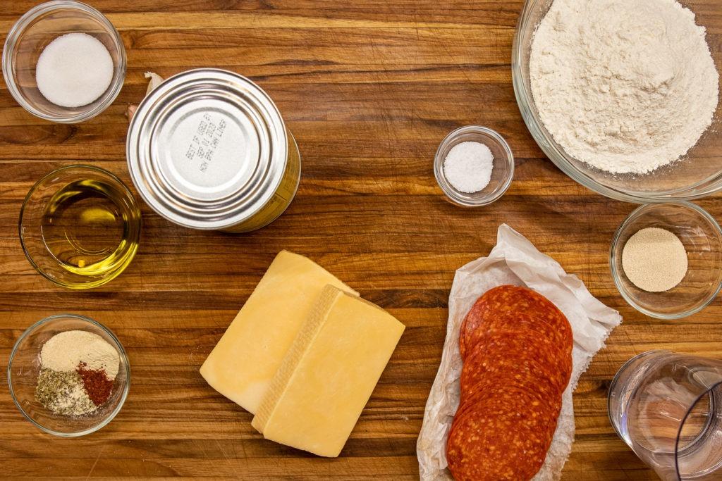 Detroit style pizza ingredients