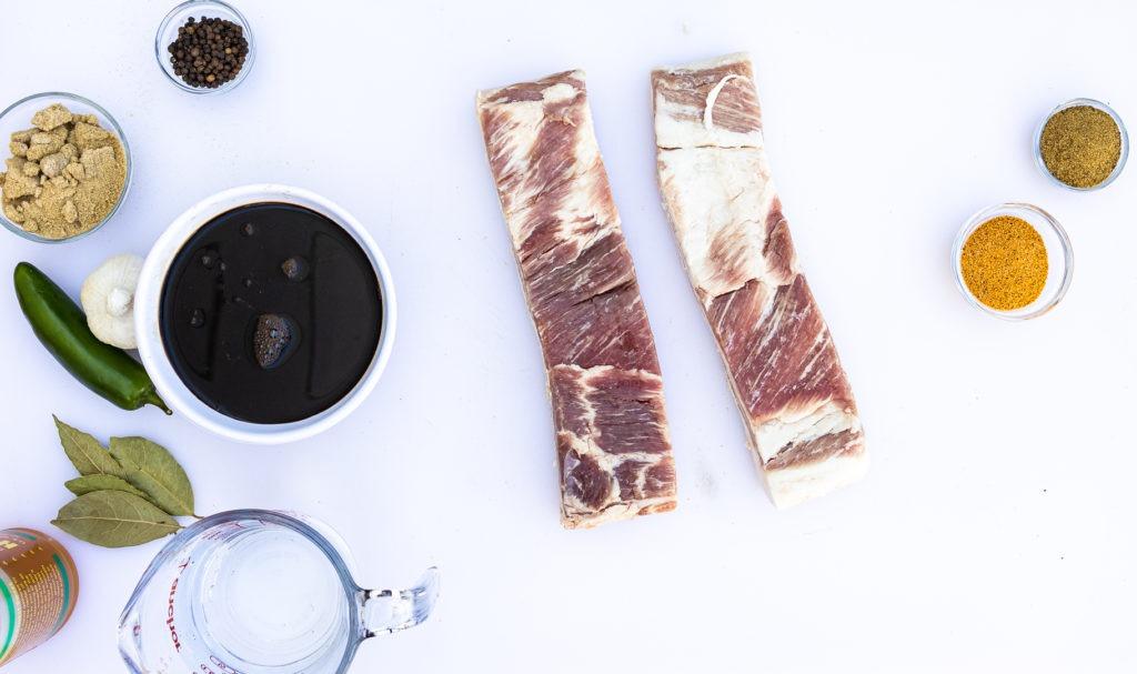 Adobo pork belly burnt ends ingredients