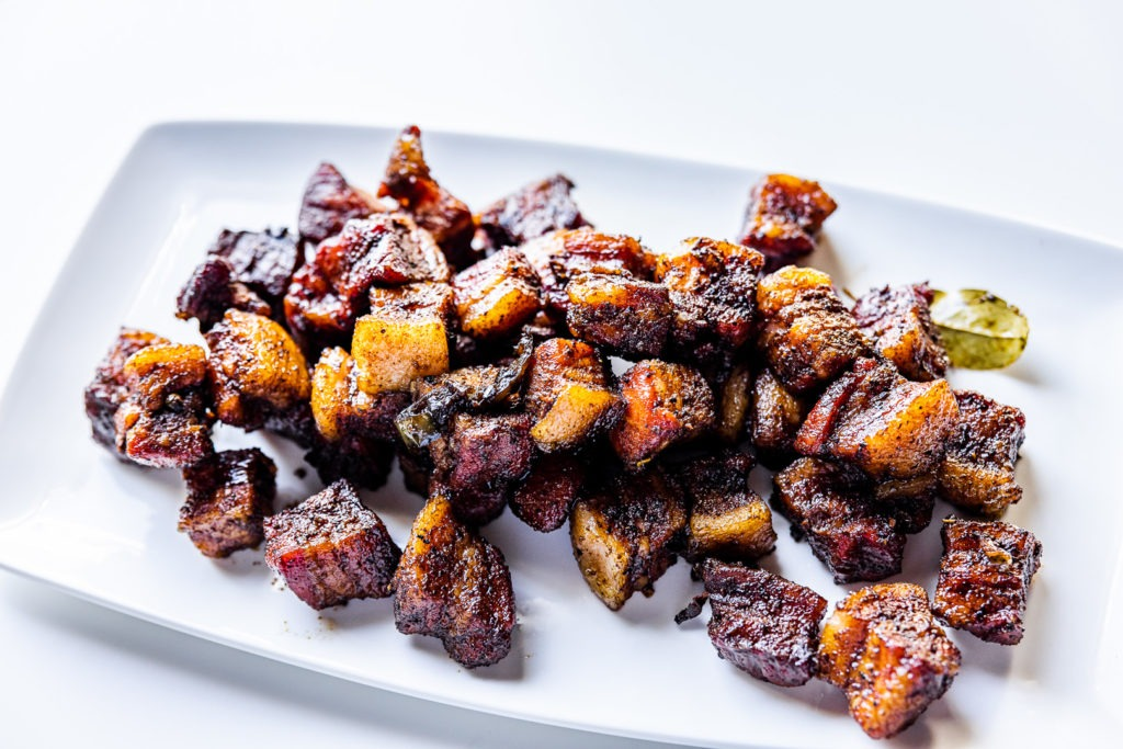 Filipino adobo pork belly burnt ends