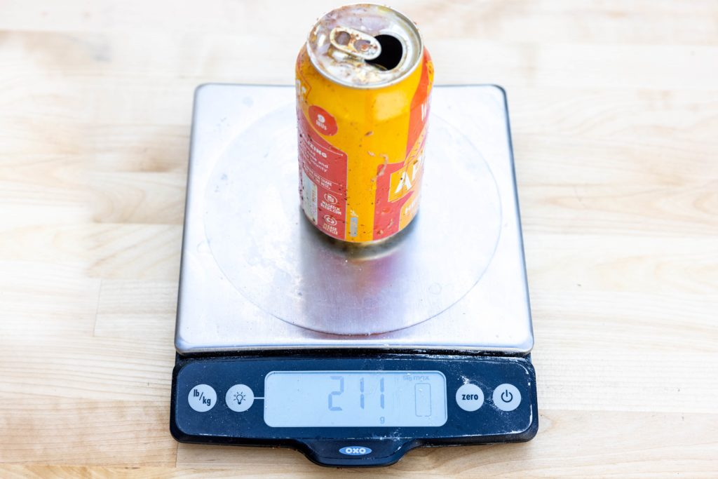 Weighing the beer after cooking