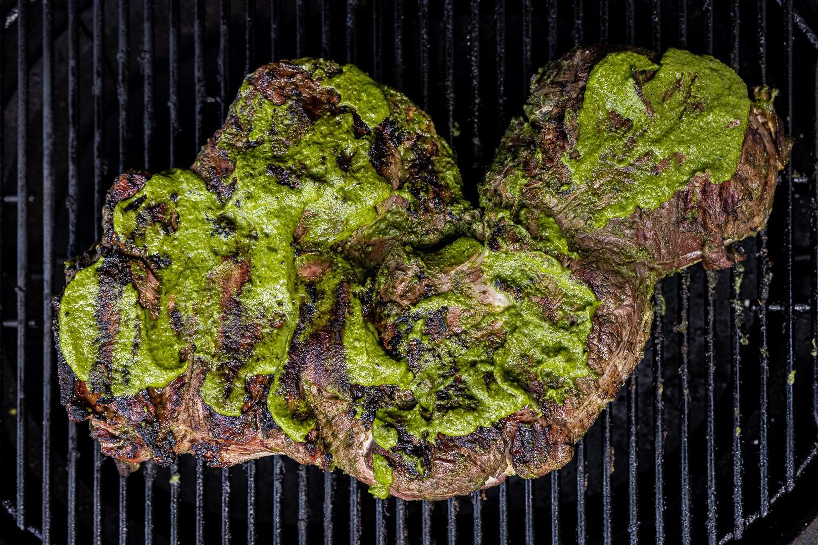 butterflied leg of lamb grilling