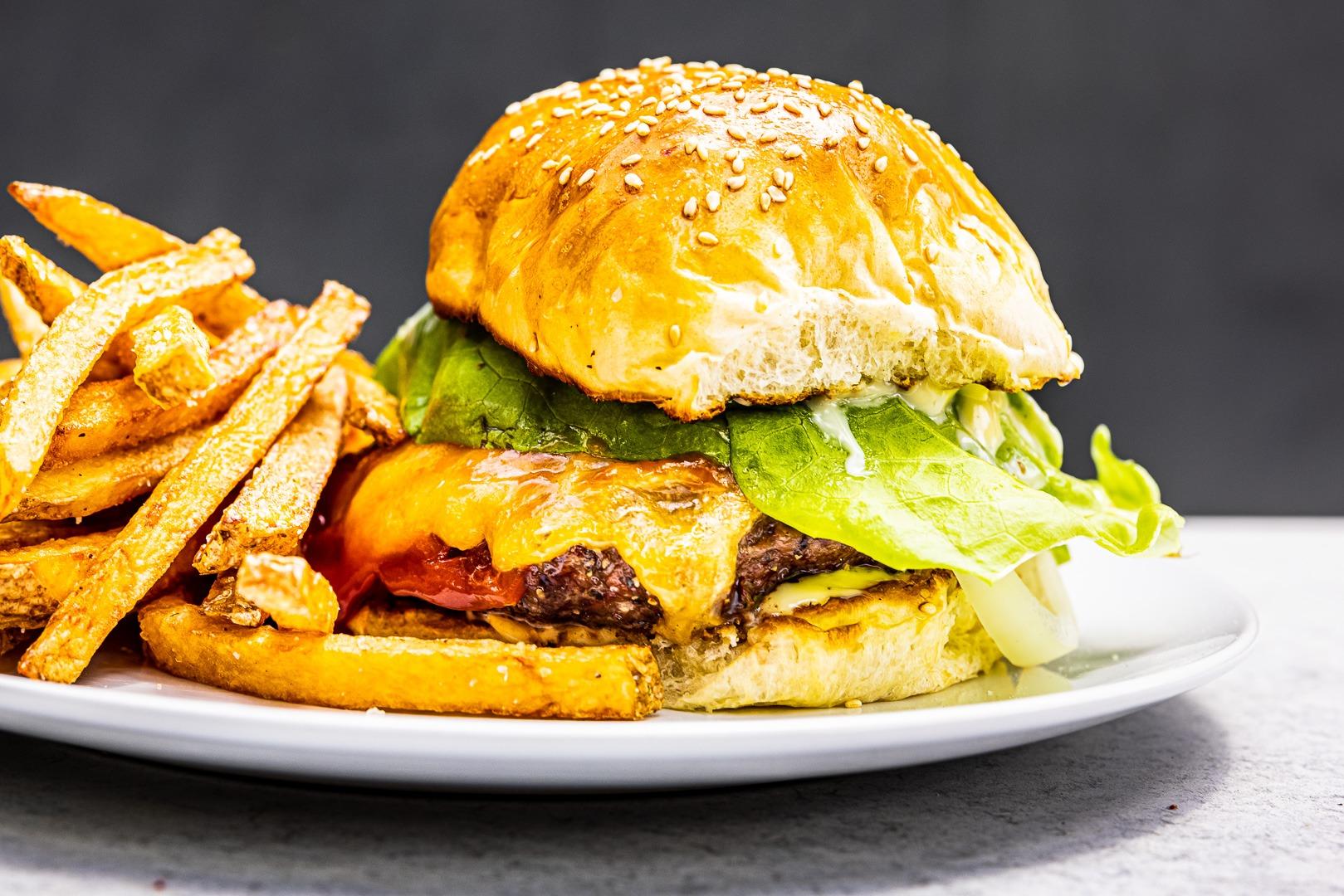 A perfect burger with a perfect bun