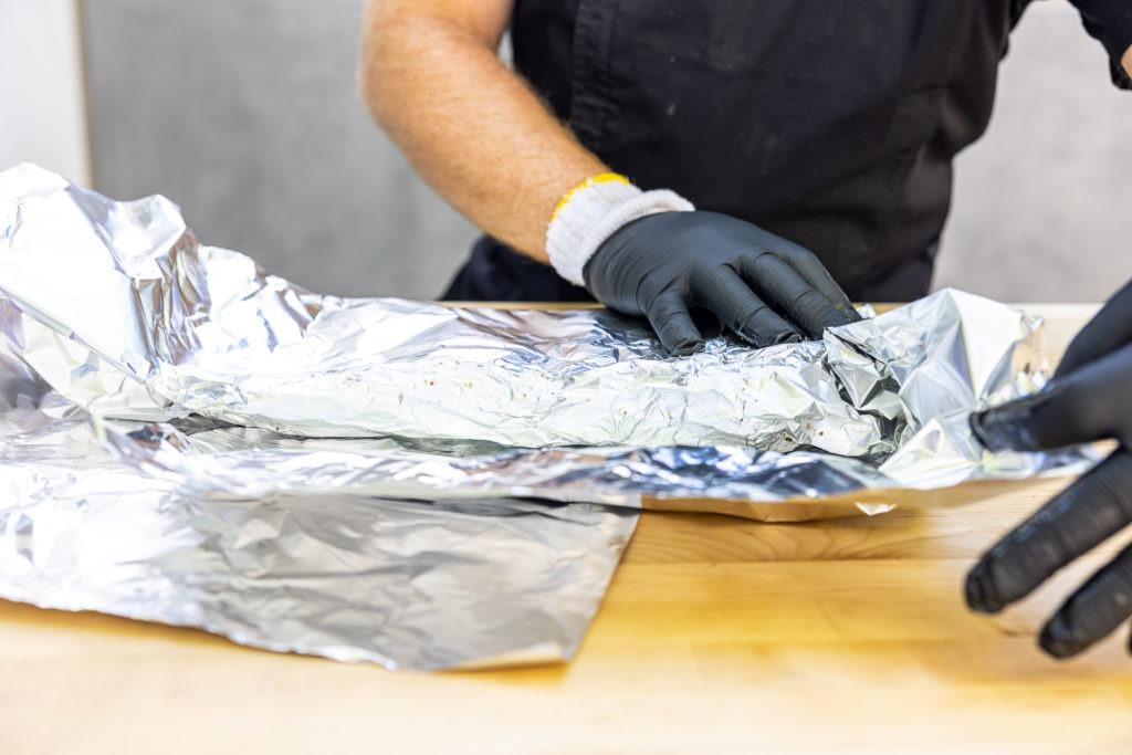 finishing the rib wrap