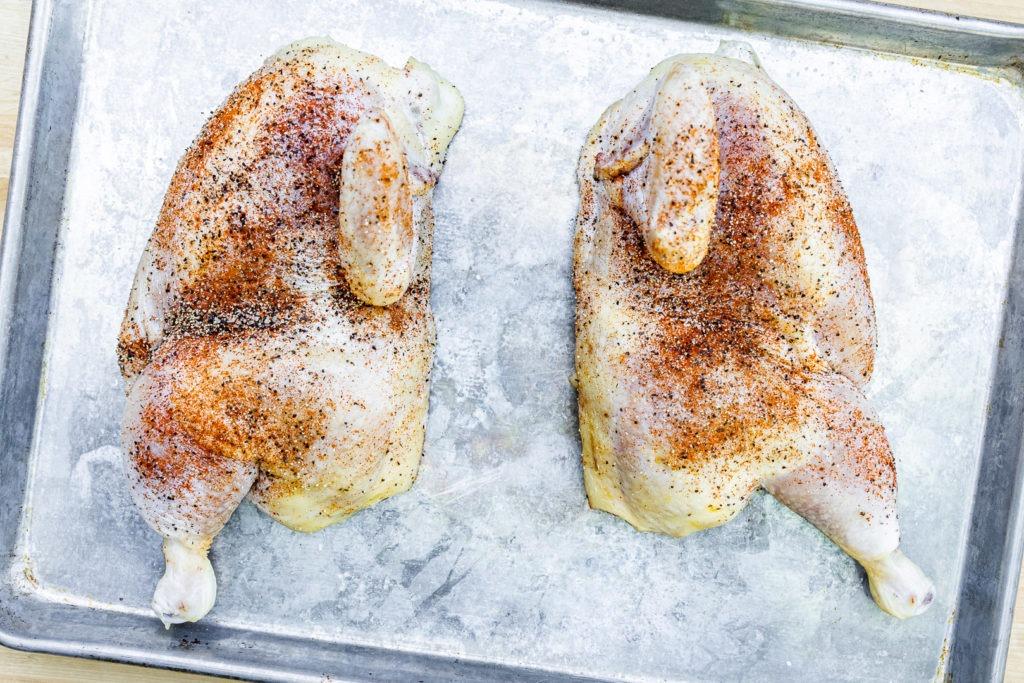 Chicken after dry brining