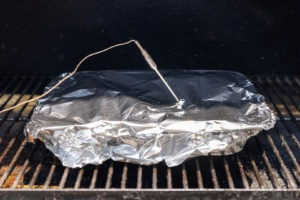probe through foil in meat