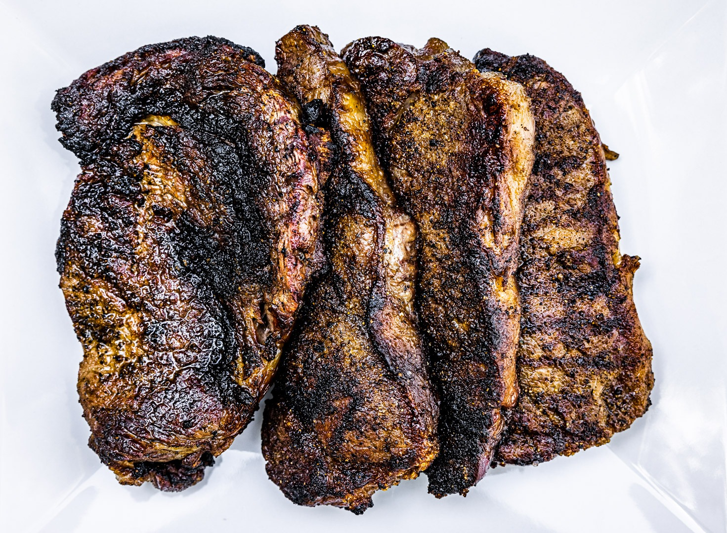 plate of grilled steaks