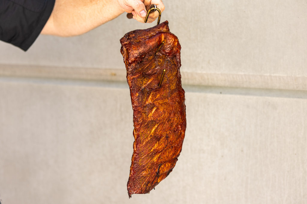 A hanging rack of ribs