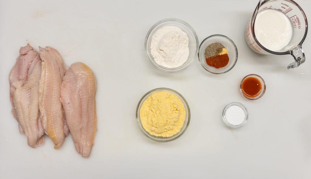 Fried catfish ingredients