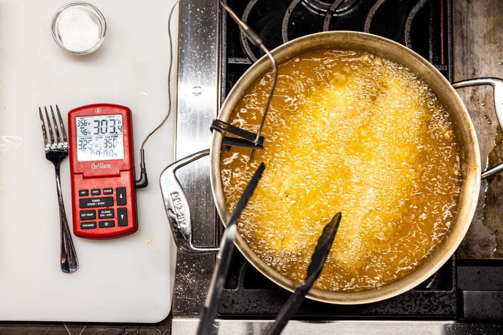 frying catfish