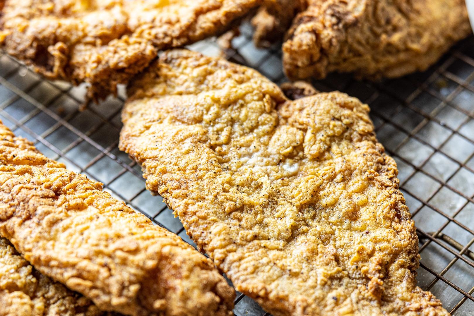 Fried catfish fillets