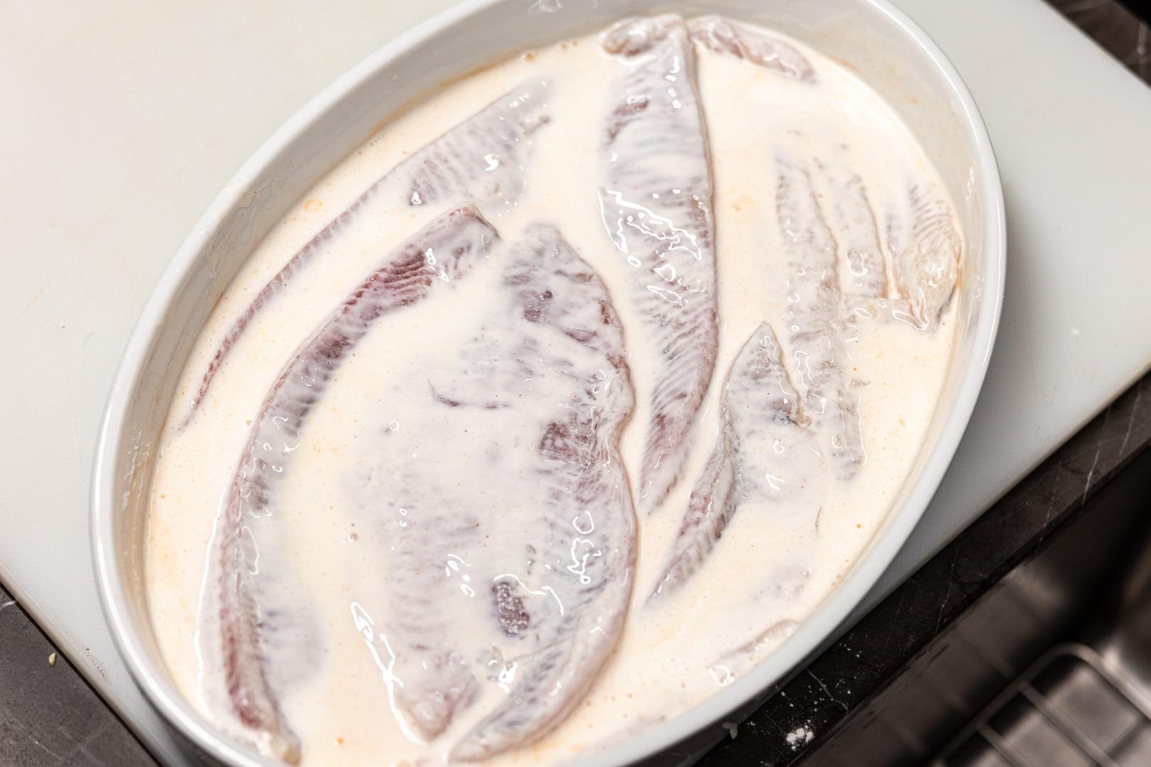 catfish in a buttermilk bath