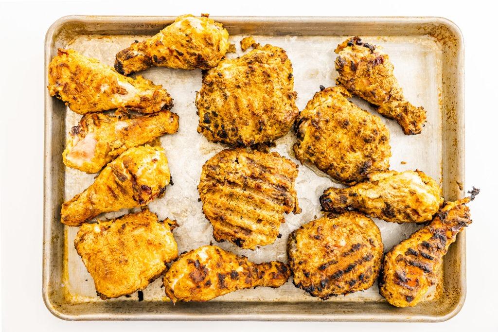 Grilled fried chicken