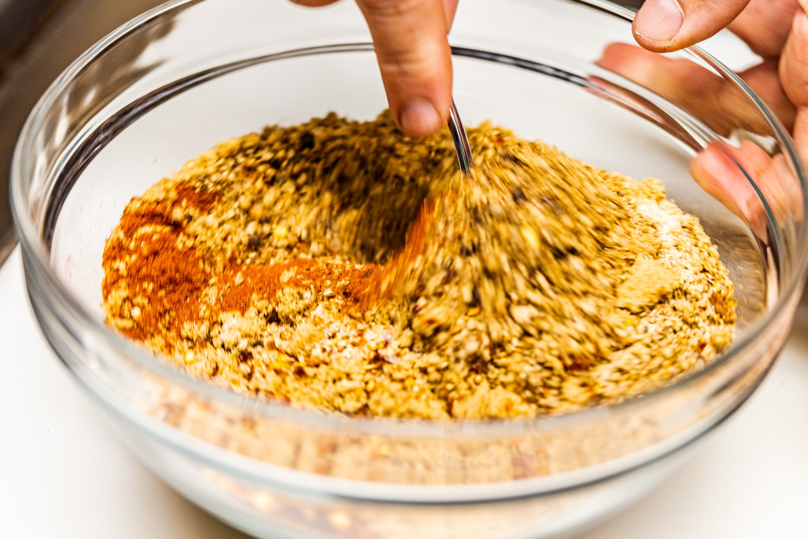 Mixing pastrami rub