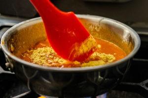 stirring in the mustard