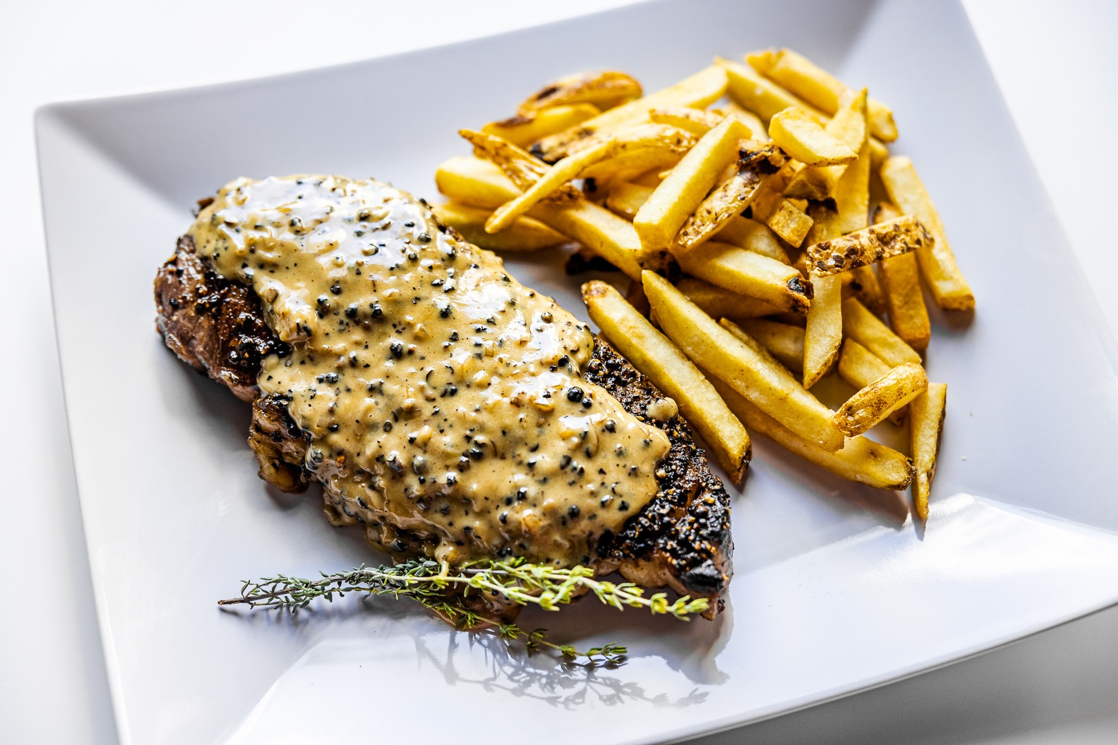 Classic Steak au poivre recipe
