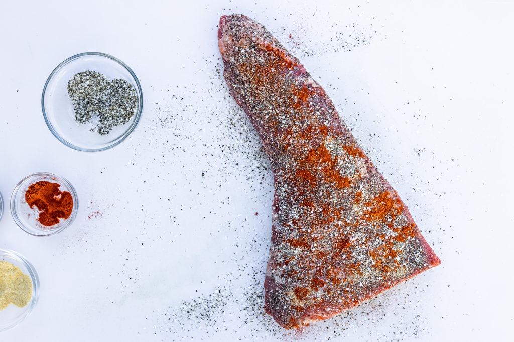 Seasoned tri-tip